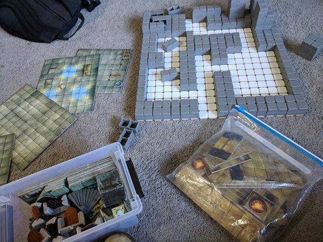 With Dungeon Tiles – GRIDSCAPE
